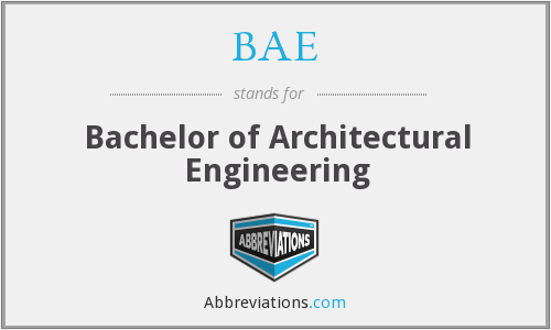 BAE - Bachelor of Architectural Engineering