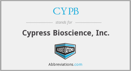 CYPB - Cypress Bioscience, Inc.