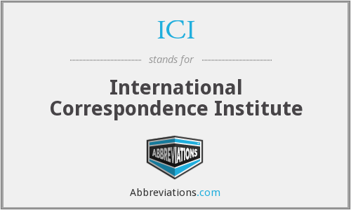 ICI - International Correspondence Institute