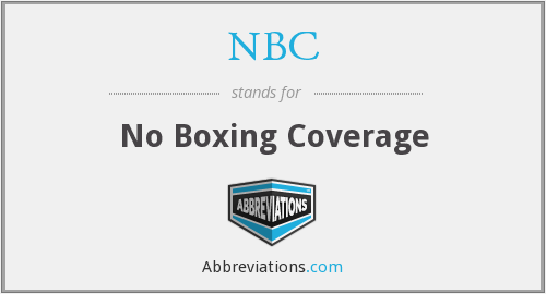 NBC - No Boxing Coverage