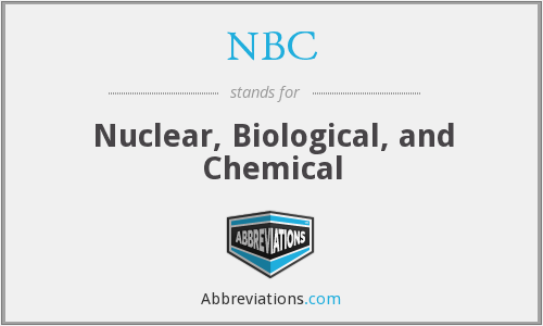 NBC - Nuclear, Biological, and Chemical