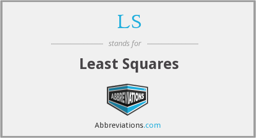 LS - Least Squares