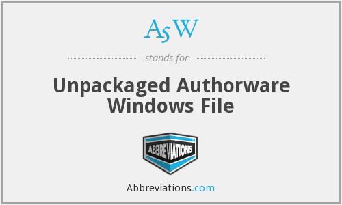A5W - Unpackaged Authorware Windows File
