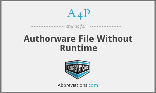 A4P - Authorware File Without Runtime
