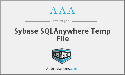 AAA - Sybase SQLAnywhere Temp File