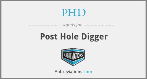 PHD - Post Hole Digger