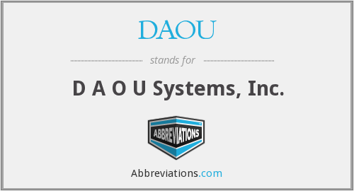 What does DAOU stand for?