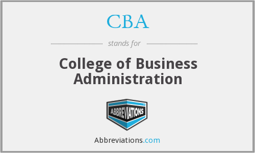 CBA - College of Business Administration