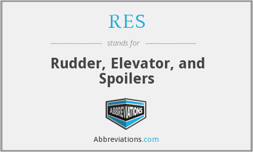 RES - Rudder, Elevator, and Spoilers