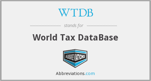 WTDB - World Tax DataBase