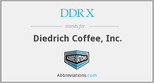 What does DDRX stand for?