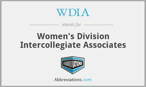 WDIA - Women's Division Intercollegiate Associates