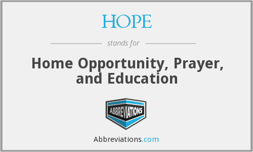 What does HOPE stand for? — Page #6