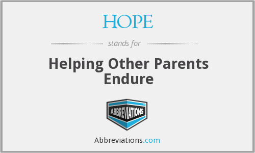 HOPE - Helping Other Parents Endure