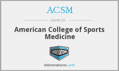 What does ACSM stand for?