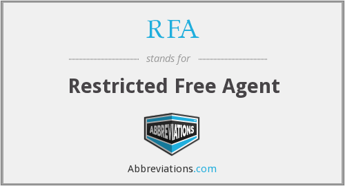 RFA - Restricted Free Agent