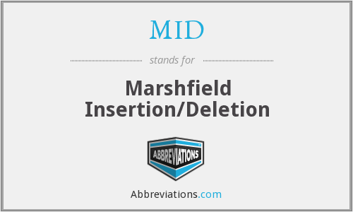 MID - Marshfield Insertion/Deletion