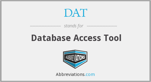 DAT - Database Access Tool