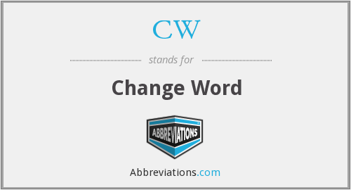 CW - Change Word