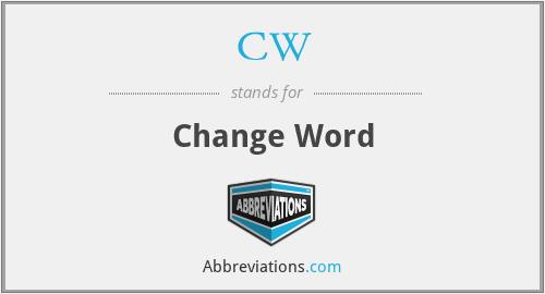 CW - Change Word