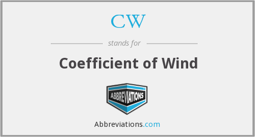 CW - Coefficient of Wind