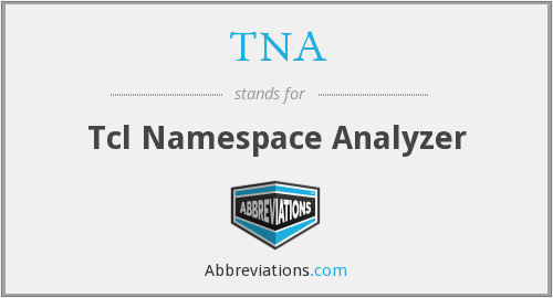TNA - Tcl Namespace Analyzer