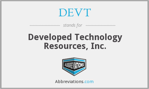What does DEVT stand for?