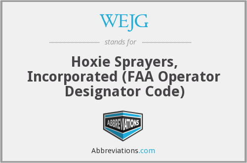WEJG - Hoxie Sprayers, Incorporated (FAA Operator Designator Code)