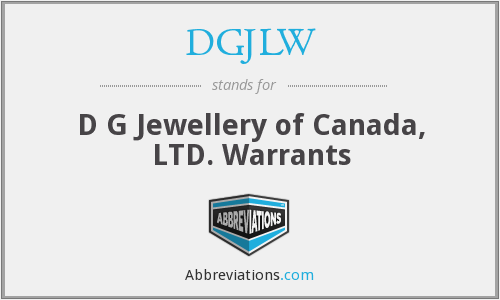 What does DGJLW stand for?