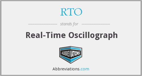 RTO - Real-Time Oscillograph