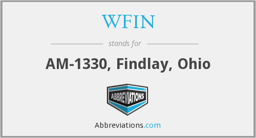 WFIN - AM-1330, Findlay, Ohio