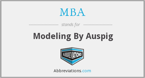 MBA - Modeling By Auspig
