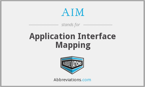 AIM - Application Interface Mapping