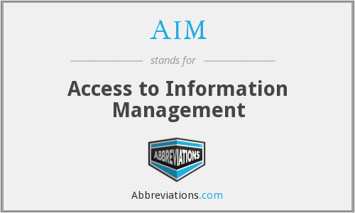 AIM - Access to Information Management