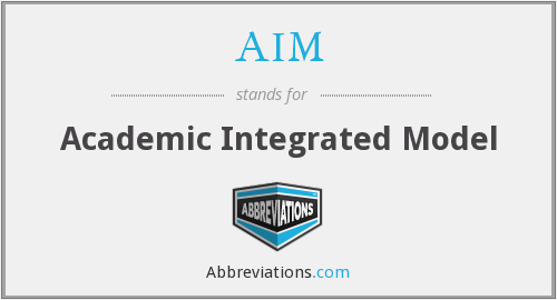 AIM - Academic Integrated Model