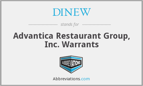 What does DINEW stand for?