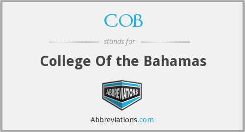 COB - College Of the Bahamas