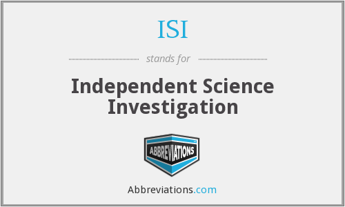 ISI - Independent Science Investigation