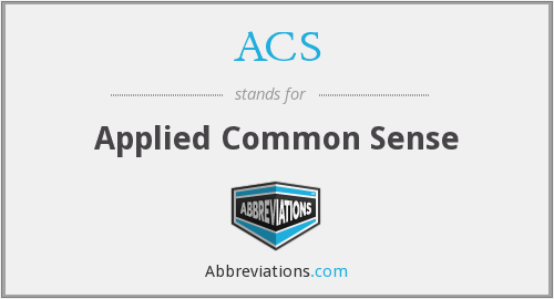 ACS - Applied Common Sense