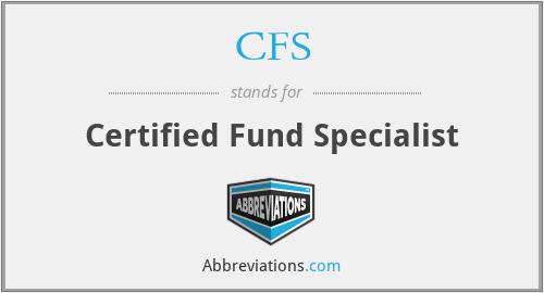 CFS - Certified Fund Specialist
