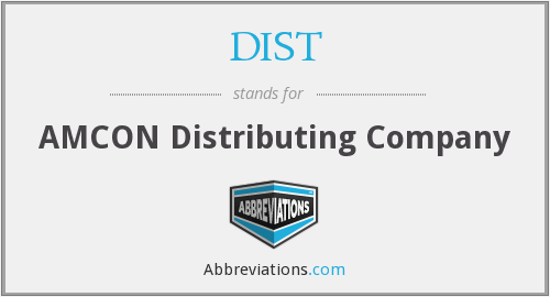 What does DIST stand for?