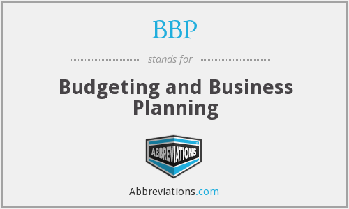 BBP - Budgeting and Business Planning