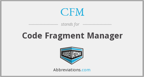 CFM - Code Fragment Manager