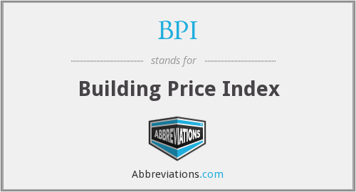 BPI - Building Price Index