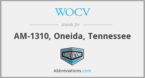 WOCV - AM-1310, Oneida, Tennessee