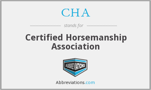 CHA - Certified Horsemanship Association