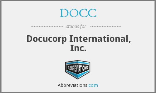 DOCC - Docucorp International, Inc.