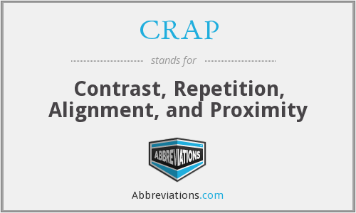 CRAP - Contrast, Repetition, Alignment, and Proximity