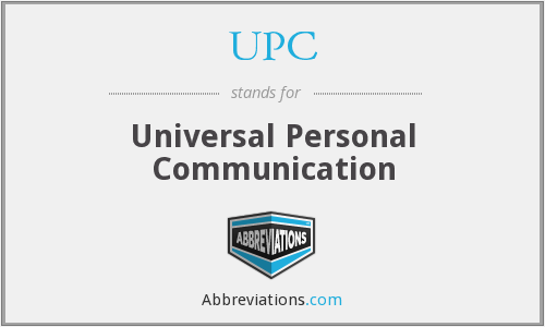 UPC - Universal Personal Communication