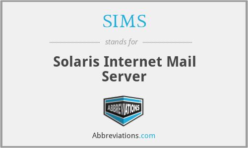 SIMS - Solaris Internet Mail Server